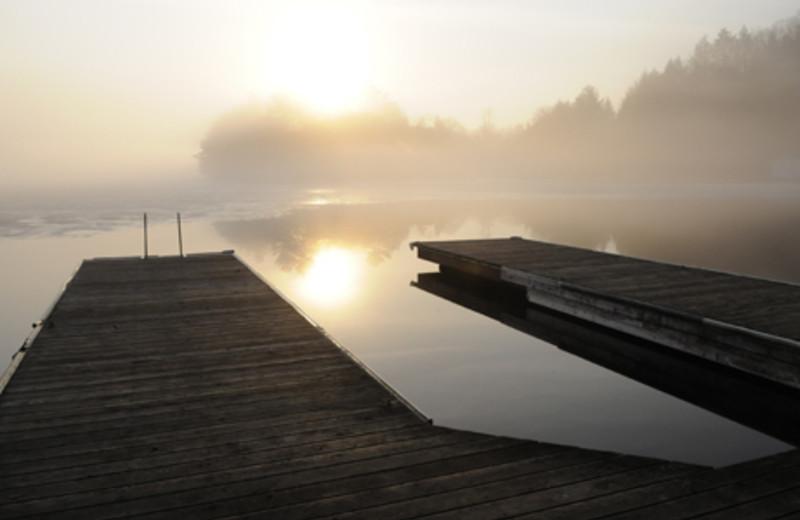 Sunrise on the dock at Sherwood Inn.
