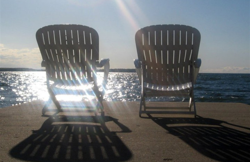 Relaxing by the lake at Westwood Shores Waterfront Resort.