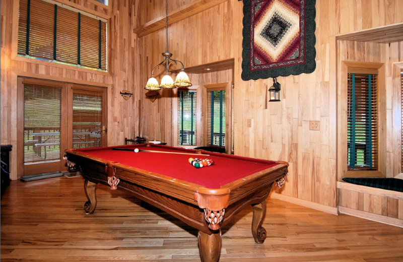 Vacation rental game room at Slope-Side Accommodation.