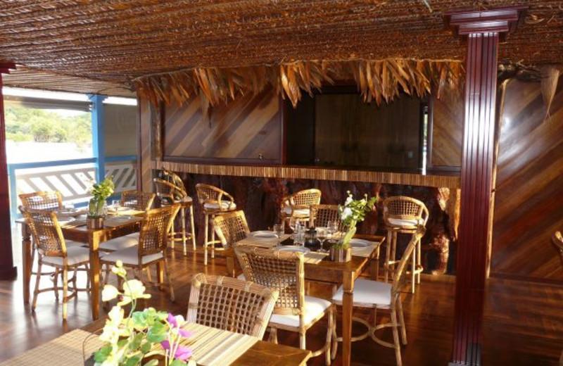 Dining at Amazonat Jungle Lodge.