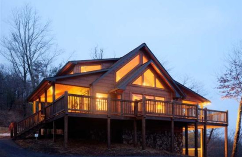 Cabin exterior at Blue Sky Cabin Rentals.