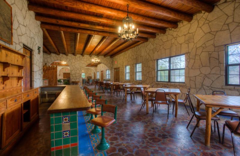 Dining area at Mo-Ranch.