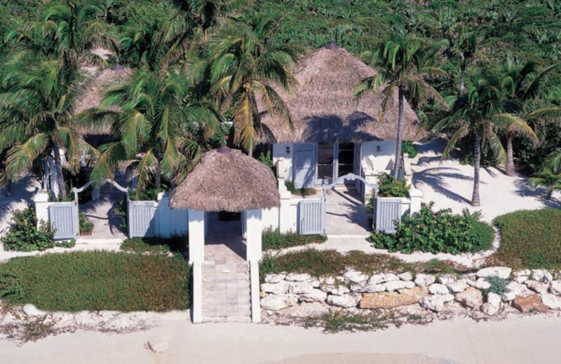 Exterior view of Musha Cay Resort.