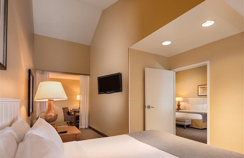 Guest room at Westport Inn.