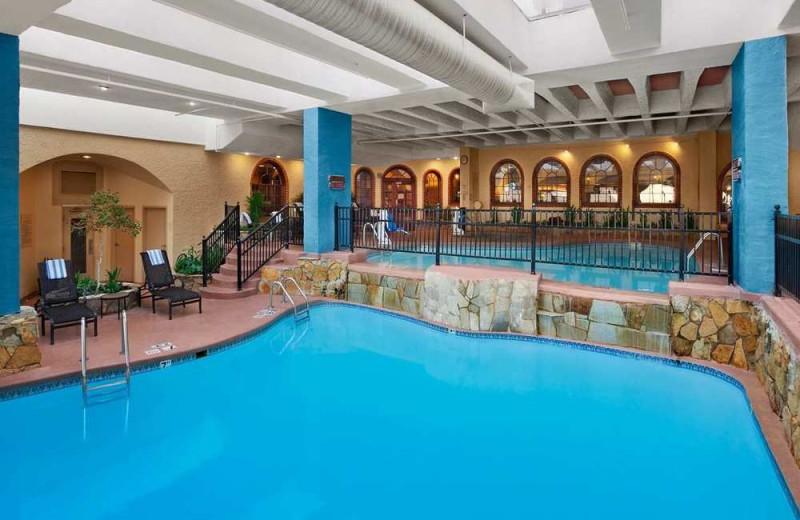 Indoor pool at Embassy Suites Kansas City.