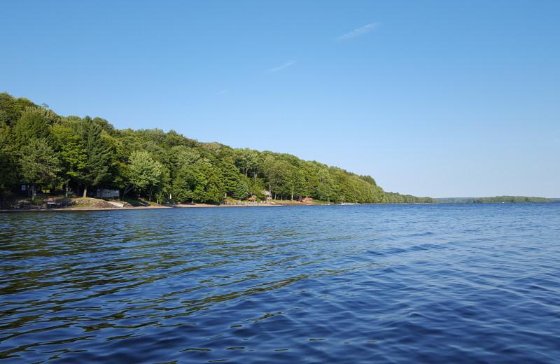 Lake view at Tug Hill Resort.