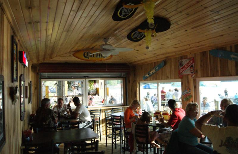 Indoor dining at Edinboro Lake Resort.