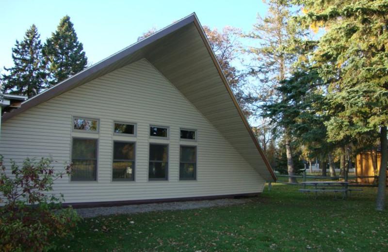 Cabin exterior at Anchor Inn Resort.