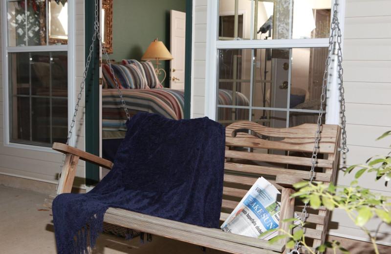 Porch at The Inn at Harbour Ridge.
