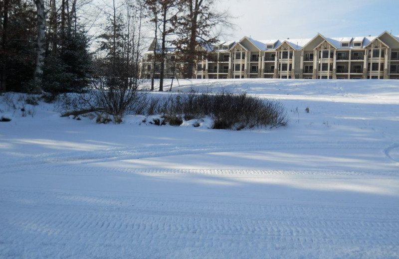Winter time at Northernaire Resort.