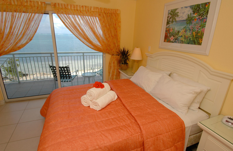 Guest room at Compass Point.