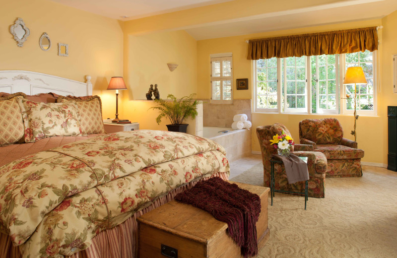 Guest room at Old Monterey Inn.
