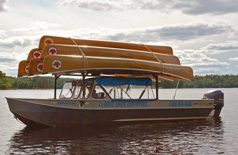 Canoe shuttle at Zup's Fishing Resort and Canoe Outfitters.