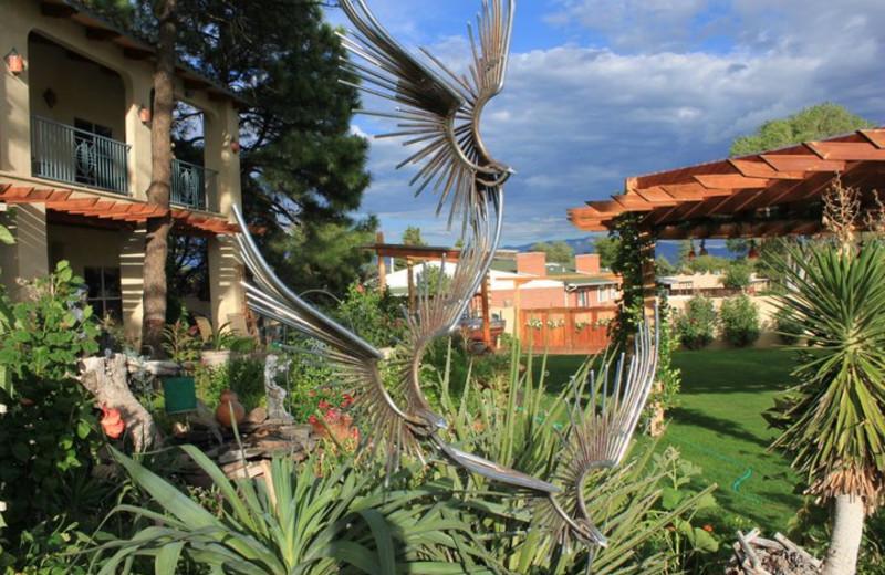 Garden sculptures at Inn at Paradise.