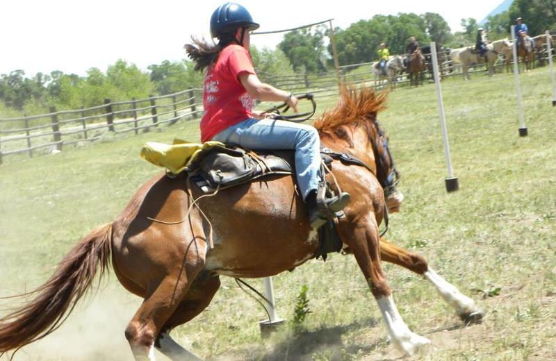 Horse riding at Vee-Bar Guest Ranch.