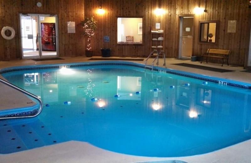 Indoor pool at Misty Harbor.