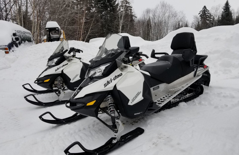 Snowmobiling at The Birches Resort.
