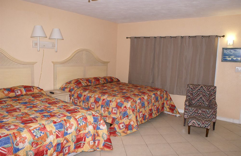 Two bed guest room at Daytona Shores Inn and Suites.