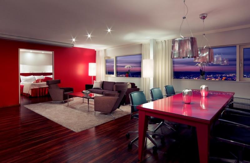 Guest suite at Hotel Gothia.