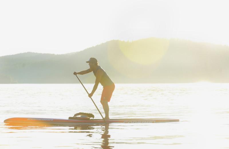 Paddle board at The Lodge at Whitefish Lake.