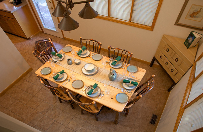 Guest dining room at Rams Horn Village Resort.