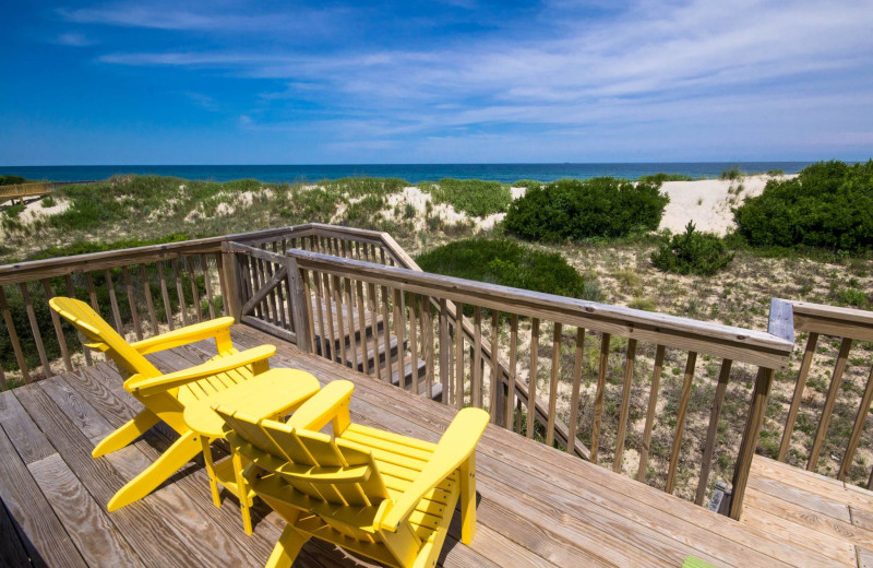 Rental deck at Beach Realty & Construction.