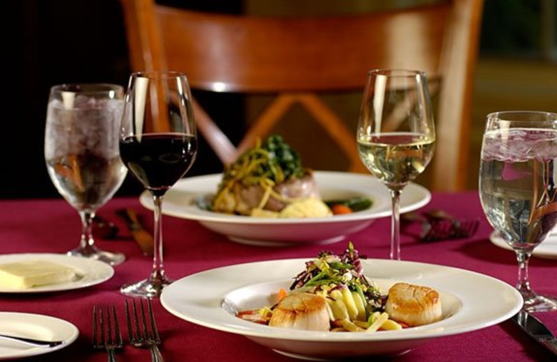 Cuisine at Mirror Lake Inn Resort & Spa.