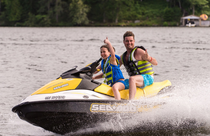 Jet ski at Deerhurst Resort.