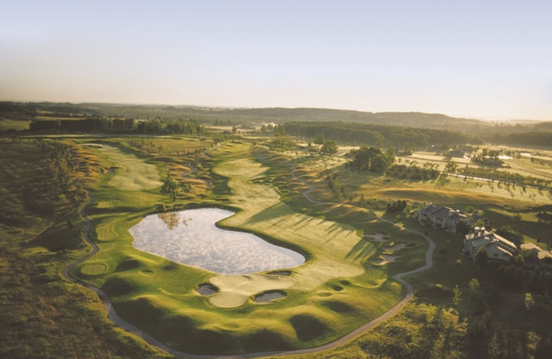 Aerial golf course view at Grand Traverse Resort.
