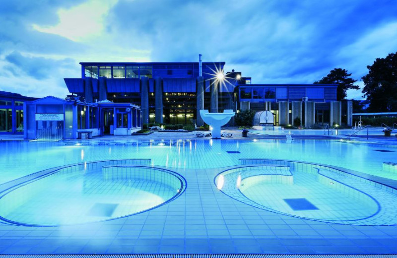 Outdoor pool at Grand Hotel des Bains.