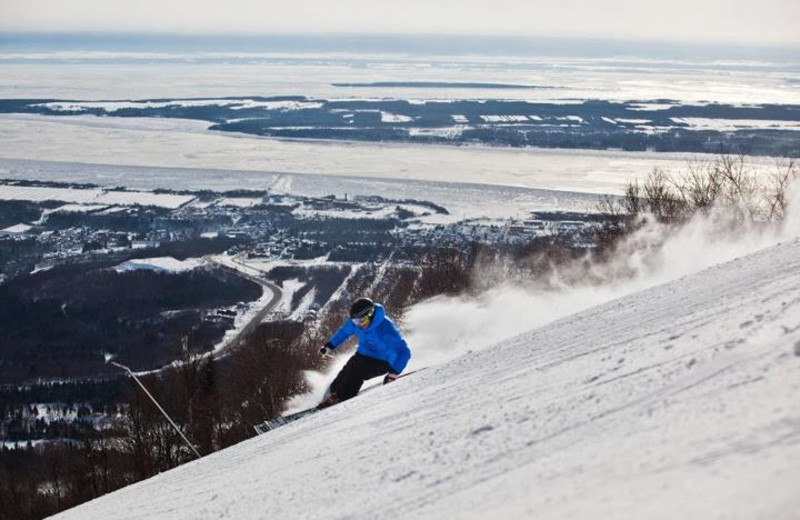 Skiing at Chalets Mont-Sainte-Anne.