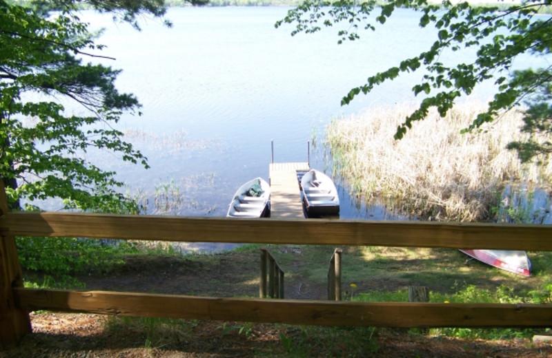 Lake view at Birchwood Beach Resort.