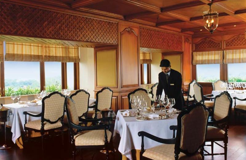 Dining room at Taj Bengal.