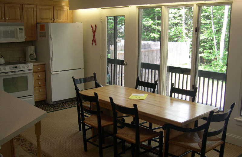 Dining table at Village Condominium.
