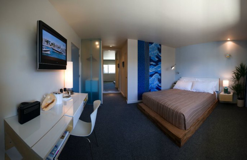 Guest room at The Pearl.