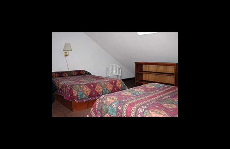 Guest room at Northern Lake George Resort.