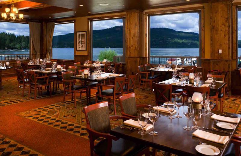 Dining at The Lodge at Whitefish Lake.