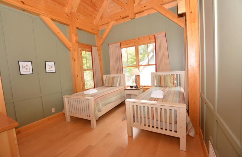 Guest room at Port Cunnington Lodge.