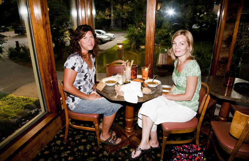 Dining at Holiday Acres Resort.