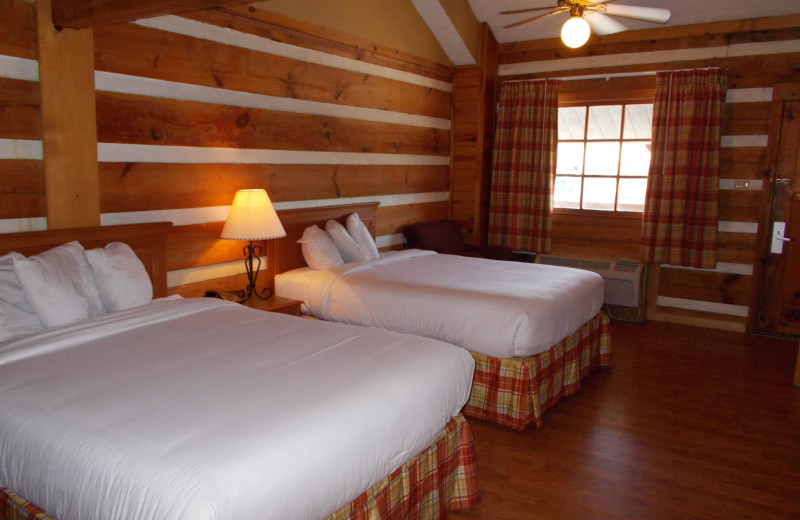 Two bed guest room at Timbers Lodge.