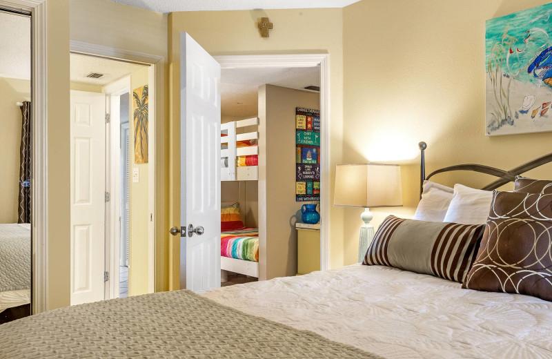 Rental bedroom at Bender Realty Vacation Rentals.