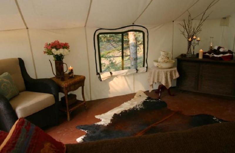 Interior Spa View at Siwash Lake Ranch