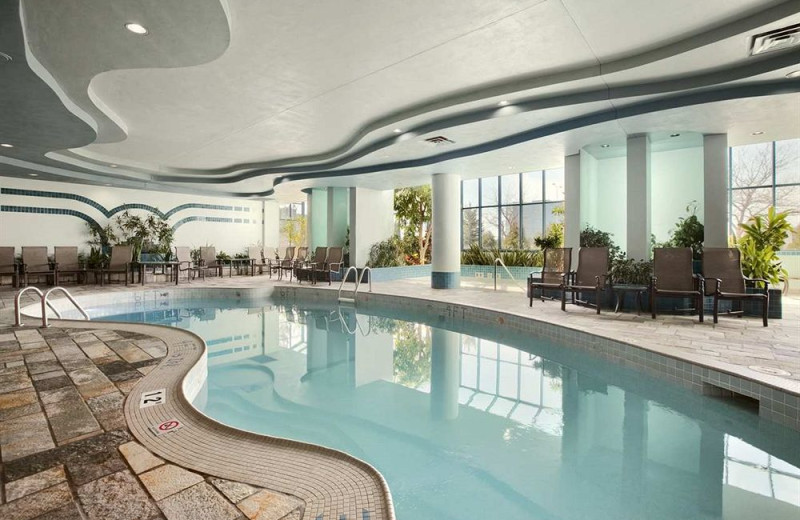 Indoor pool at Embassy Suites Minneapolis.