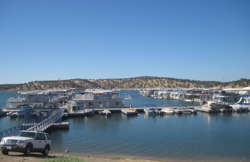 The marina at Lake Don Pedro.