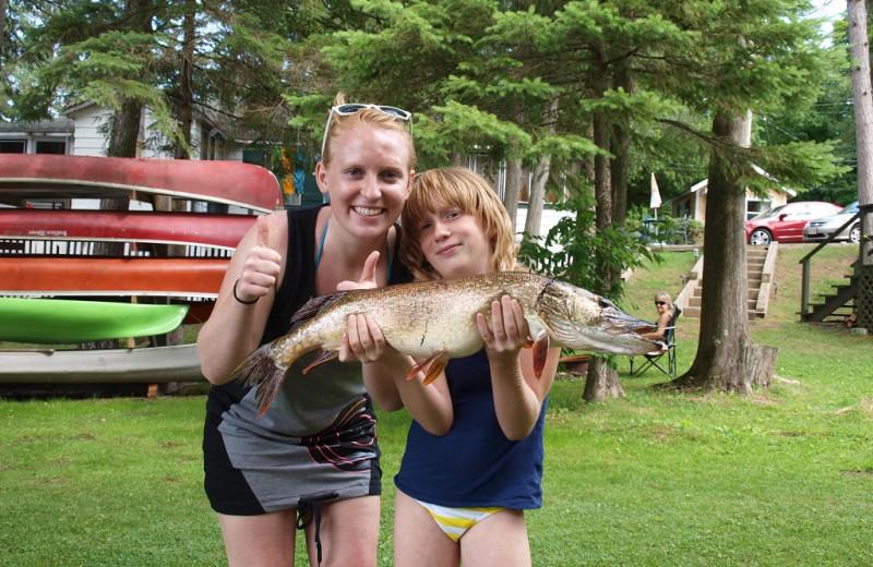 Fishing at Sandy Beach at Otter Lake.