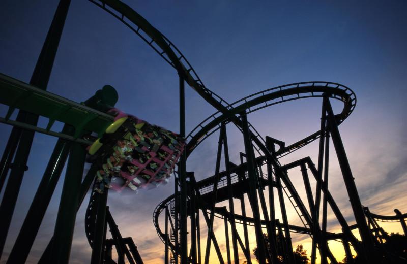 Roller coaster at Cedar Point Resort.