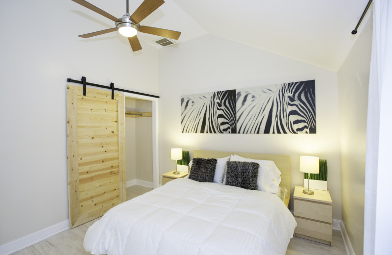 Rental bedroom at Vacation Rentals Folly Beach.