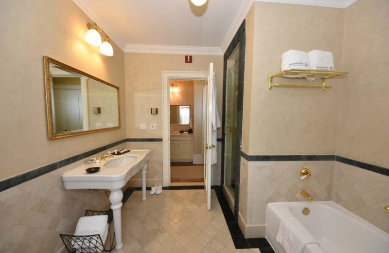 Guest bathroom at Castle Hotel & Spa.