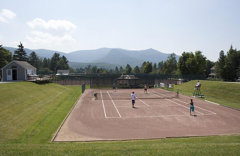 Tennis court at Golden Eagle Lodge.