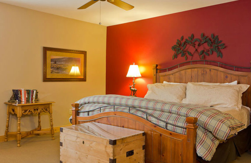 Guest room at Trail's End Lodge.